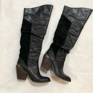 e7af40c6ef3 Lucky brand knee high black boots